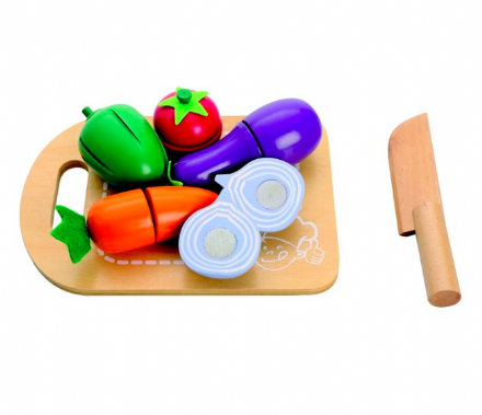Mamamemo Vegetable Cutting Play Food with chopping board